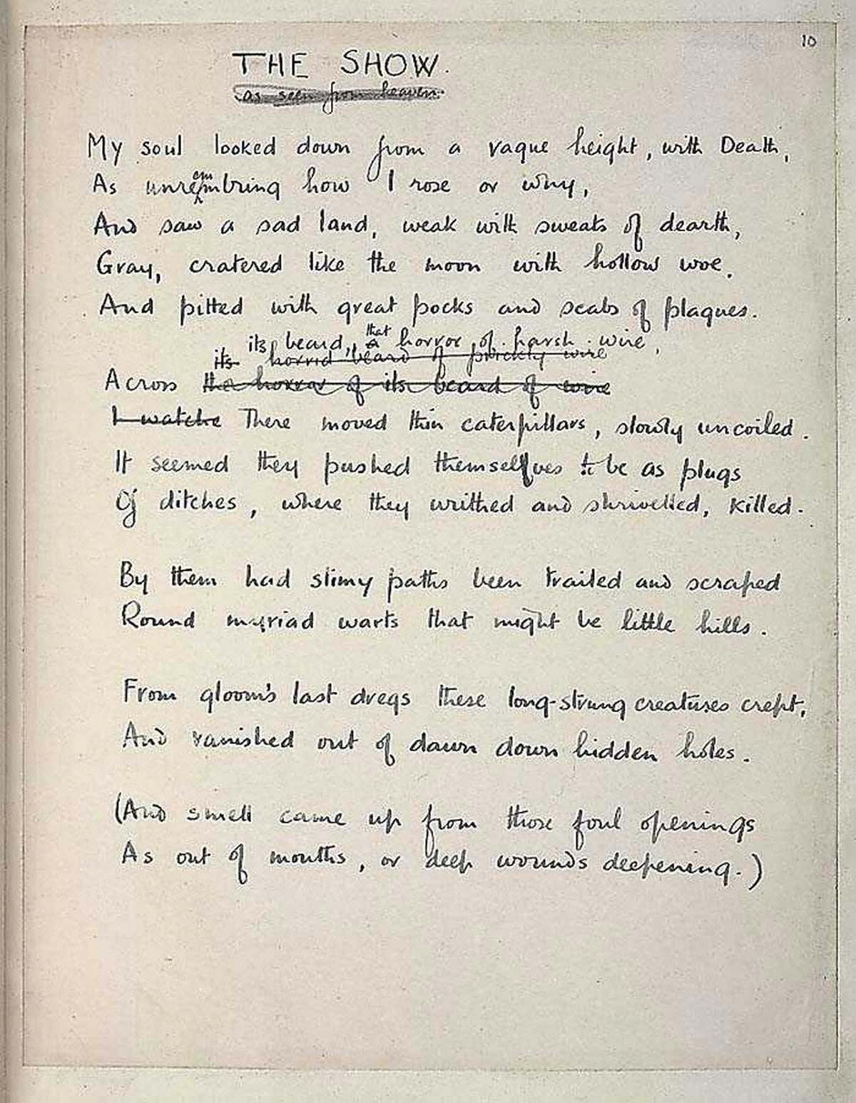 poetry by heart the show the british library the wilfred owen literary estate image via the first world war poetry digital archive university of oxford