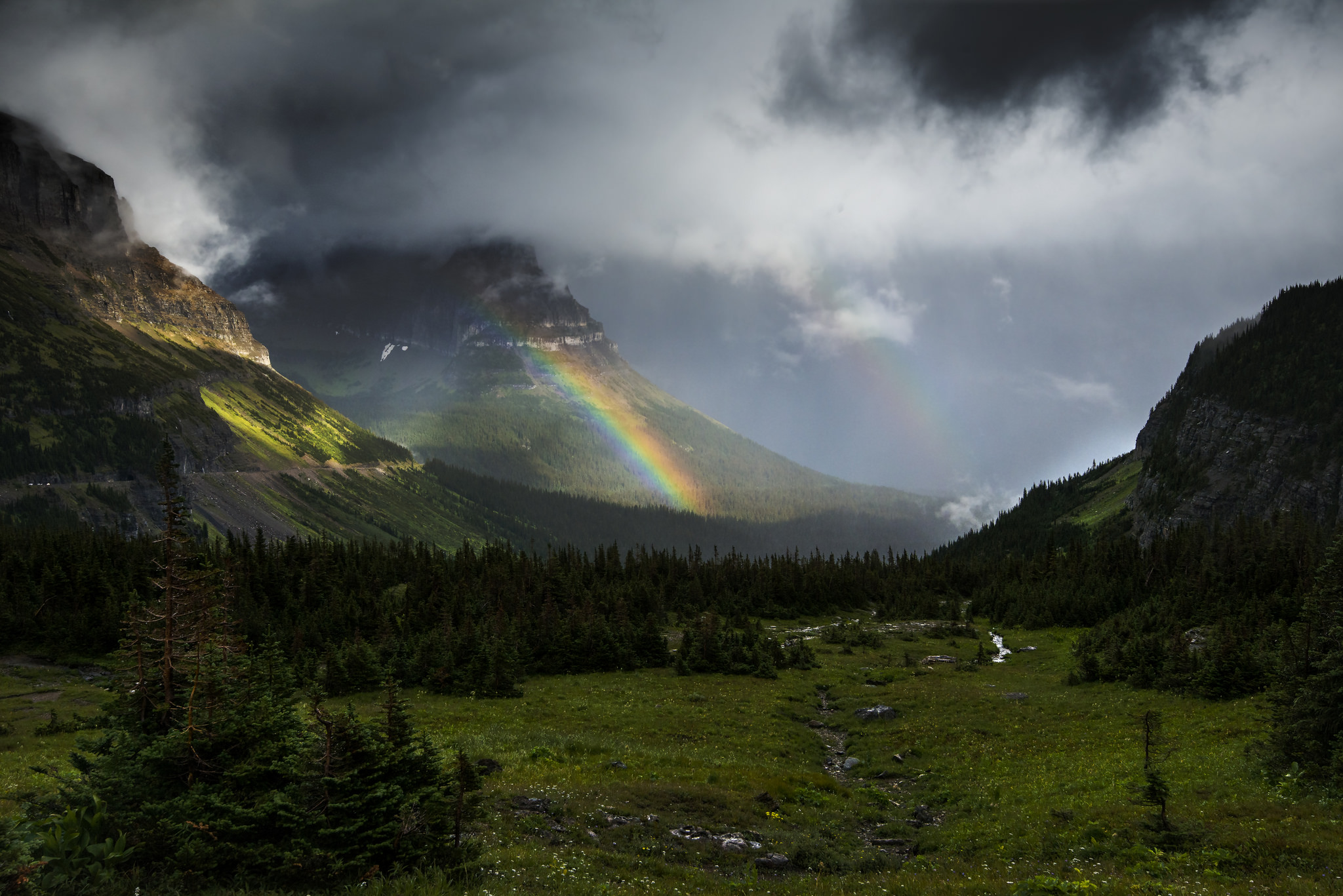 Courtesy of Glacier NPS Rainbow from Logan Pass parking lot. Creative Commons